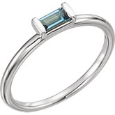 London Blue Topaz Stackable Ring or Mounting