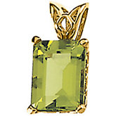 Genuine Peridot Scroll Setting® Pendant