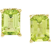 Genuine Peridot Scroll Setting® Earrings