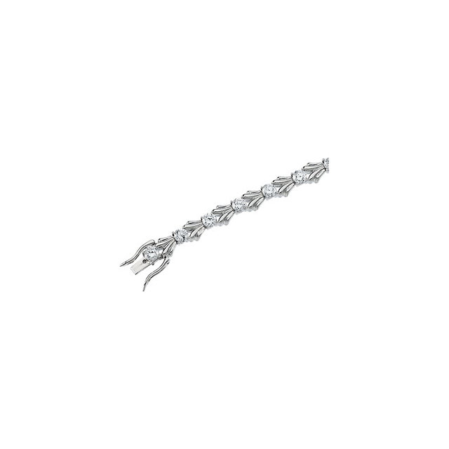 Sterling Silver Cubic Zirconia 7.5