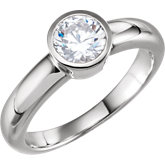 Round Bezel Engagement Ring Mounting