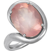 Genuine Rose Quartz Ring