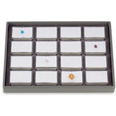 16 Gemstone Tray with Rectangle Containers