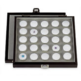 25 Gemstone Case with Hinged Lid