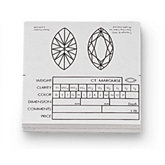 Marquise Diamond Information Fact Labels (Pack of 50)