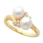 Ring Mounting for 6.5 mm Pearls