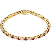 Genuine Ruby & Diamond Bracelet
