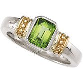 Genuine Peridot Ring