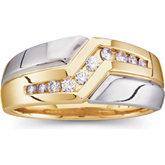 1/3 ct tw Two Tone Gents Diamond Ring