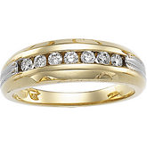 3/8 ct tw Two Tone Gents Diamond Ring