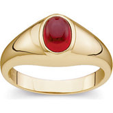 Genuine Mozambique Garnet Cabochon Ring