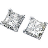 Created Moissanite Square Scroll Setting® Earrings