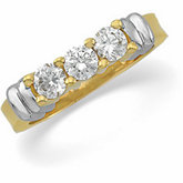 3/4 ct tw Diamond Two-Tone 3-Stone Ring