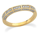 1/3 ct tw Diamond Two Tone Anniversary Band