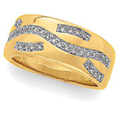 1/5 ct tw Diamond Two Tone Anniversary Band