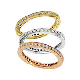 Stackable Diamond Anniversary Band