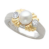 Two-Tone Accented Ring Mounting for Pearl