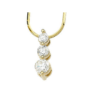Diamond 3-Stone Necklace
