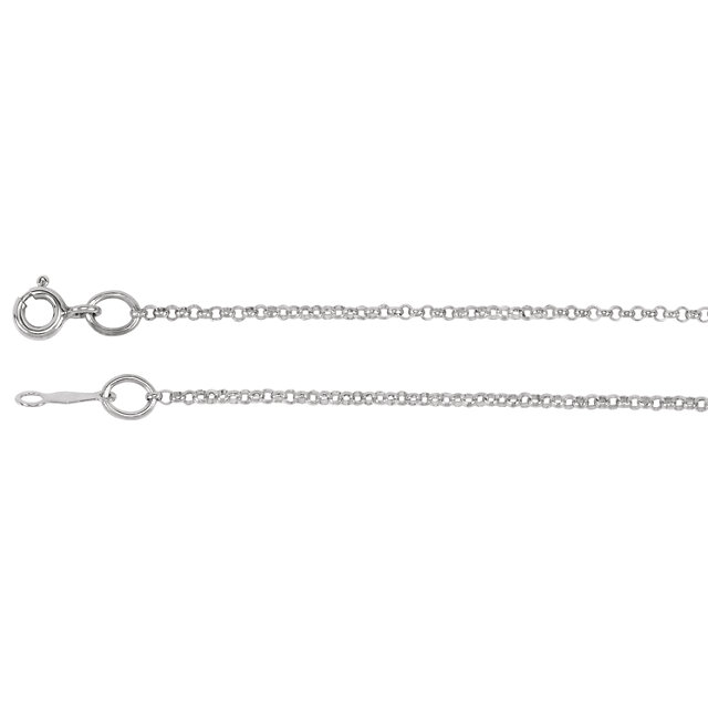 Sterling Silver 1.5mm Solid Rolo 18