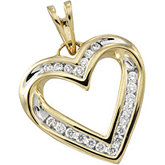 1/4 ct tw Diamond Heart Pendant