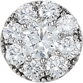 Round Shape Diamond Cluster Peg Setting