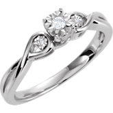 Diamond 3-Stone Promise Ring