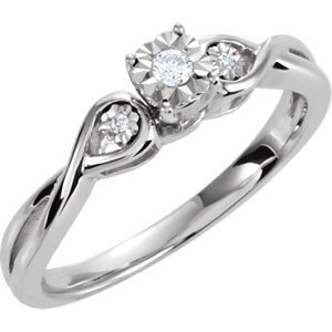 .06 CTW Diamond 3 Stone Ring Ref 650065