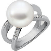 South Sea Cultured Pearl & Diamond Ring