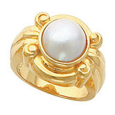 Scroll Design Ring Mounting for Mabe Pearl