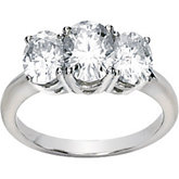 3 Stone Created Moissanite Anniversary Ring