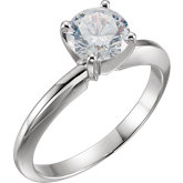 4-Prong Heavy Solitaire Engagement Ring
