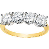 Two Tone Created Moissanite Band