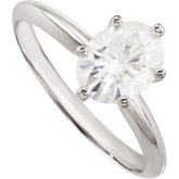 Created Moissanite Ring
