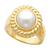 Rope Trimmed Ring Mounting for Mabe Pearl