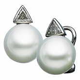 Paspaley Cultured Pearl & Diamond Earring