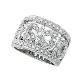 1/2 ct tw Openwork Diamond Band