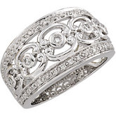 1/3 ct tw C-Scroll Diamond Band