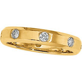 1/2 ct tw Diamond Duo Band