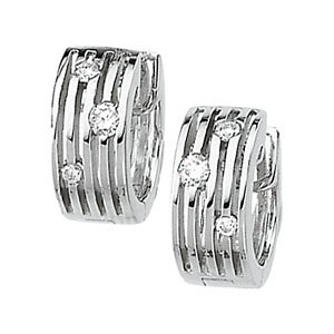 Multi-Row Hinged Diamond Earring