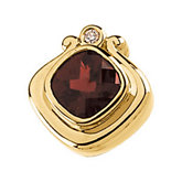 Genuine Mozambique Garnet and Diamond Pendant