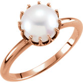 Freshwater Cultured Pearl Crown Design Ring