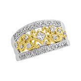 1/2 ct tw Diamond Two Tone Anniversary Band