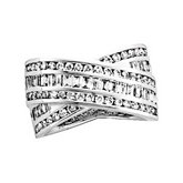 1 3/4 ct tw Diamond Overlap Design Anniversary Band