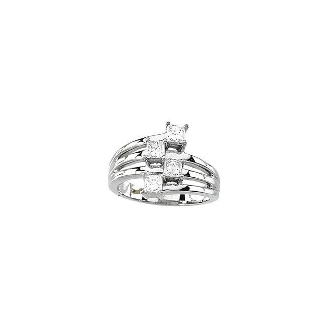 Princess Cut Diamond Right Hand Ring