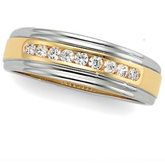 1/3 ct tw Two Tone Diamond Duo Band