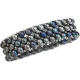 Freshwater Cultured Black Pearl Stretch Bracelet