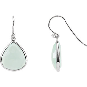 Aqua Ahalcedony Earrings