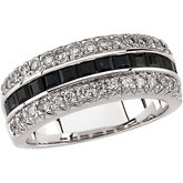 Sapphire & Diamond Anniversary Band or Mounting