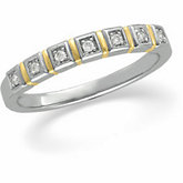 .07 ct tw Diamond Two Tone Anniversary Band