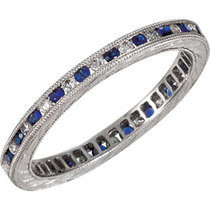 Sapphire & Diamond or Diamond Eternity Band